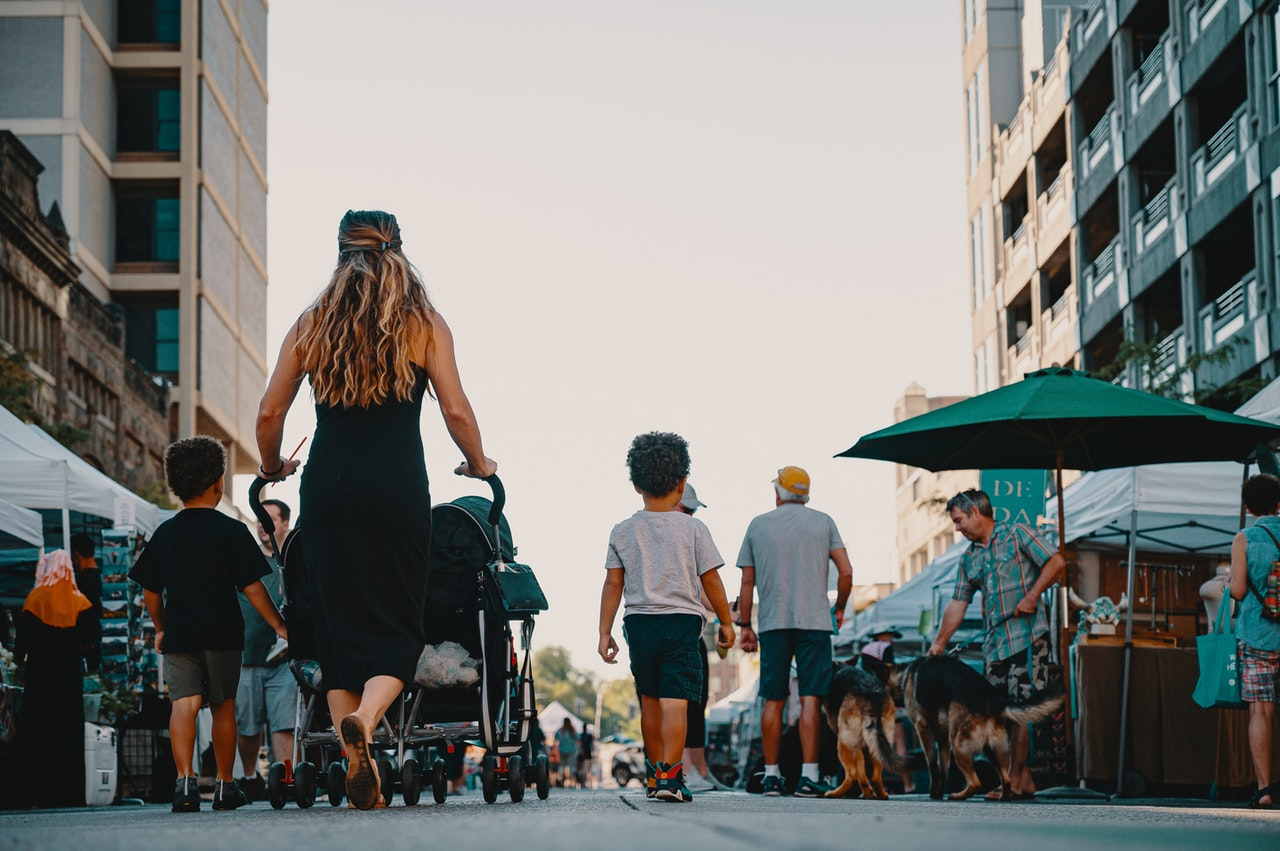 People Walking On Street 2914751